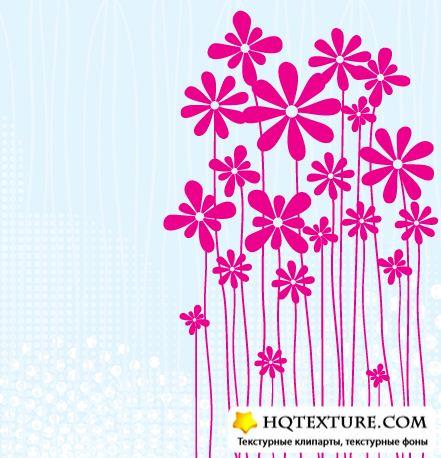 Векторный клипарт цветы и узоры