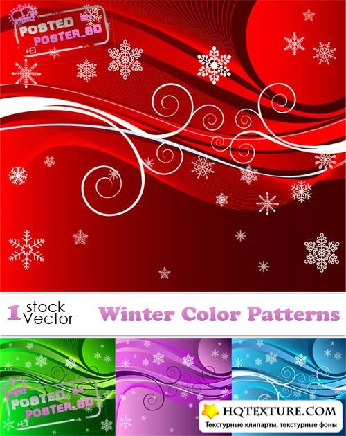 Winter Color Patterns Vector