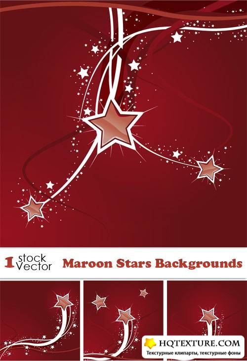Maroon Stars Backgrounds Vector