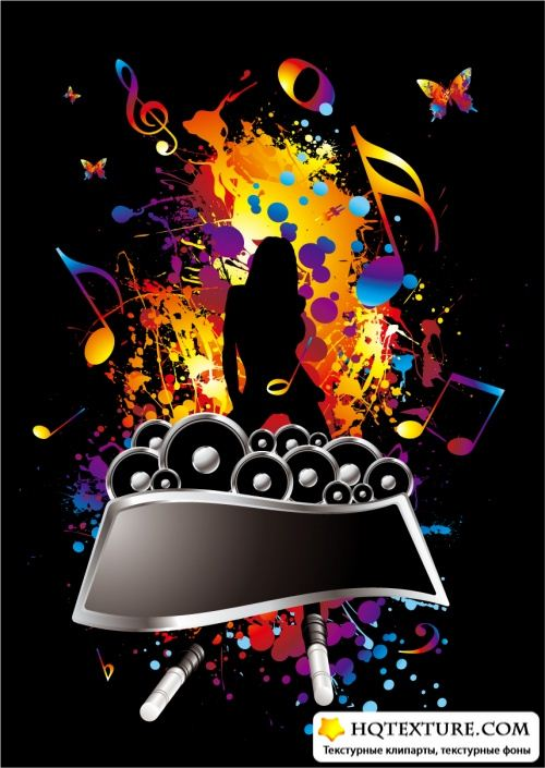 Stock Vector - Music Backgrounds Collection