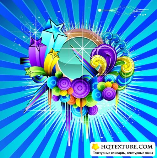 Stock Vector - Abstract color