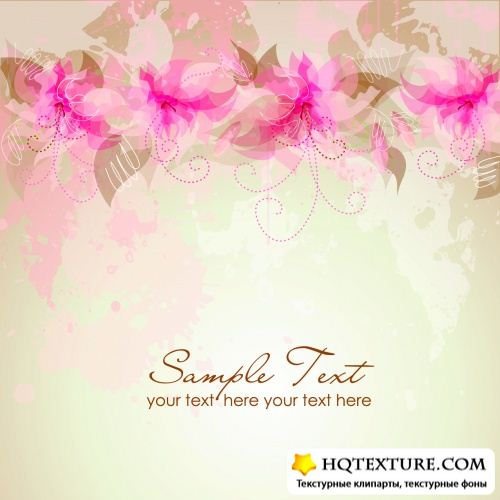 Stock : Abstract floral background 5