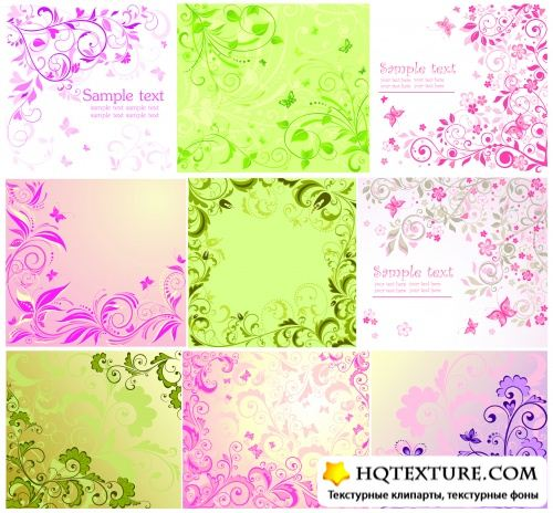 Floral Backgrounds Vector 2