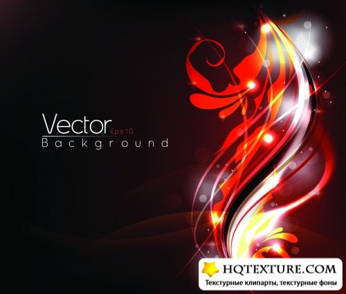 Glowing Foliage Backgrounds Vector