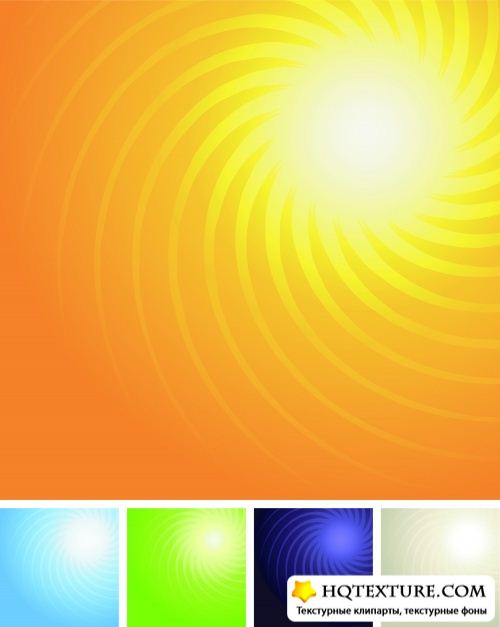Sun Color Backgrounds Vector