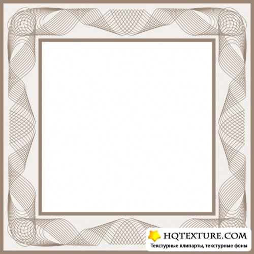 Stock Vector - Guilloche Frame & Elements