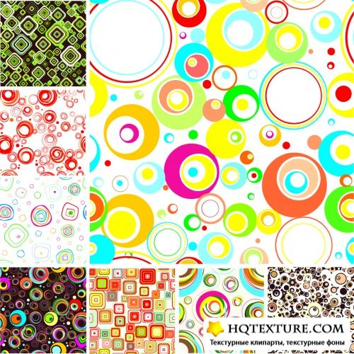 Stylish Seamless Patterns Vector