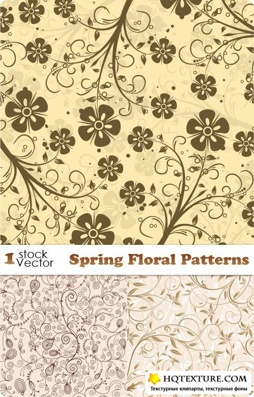Spring Floral Patterns Vector