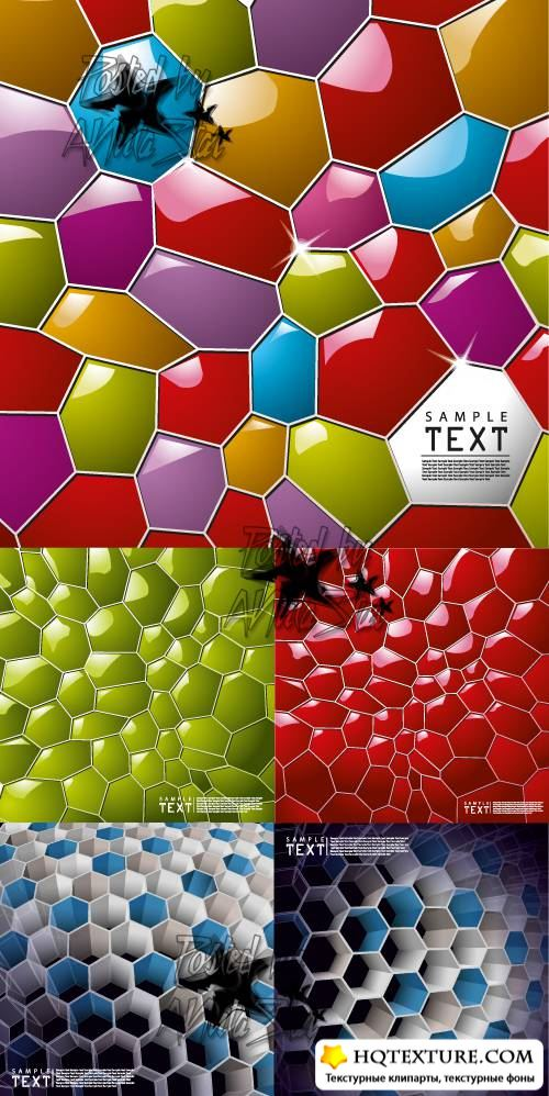 Background of Three-dimensional Honeycomb Vector