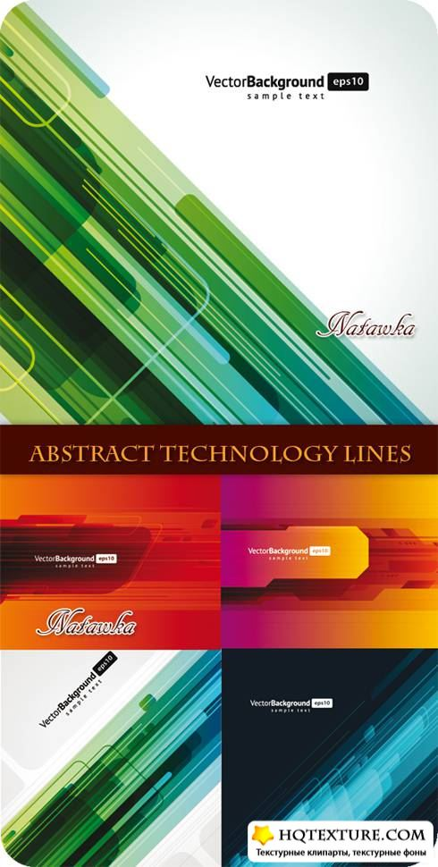 Abstract Technology Lines - Stock Vector