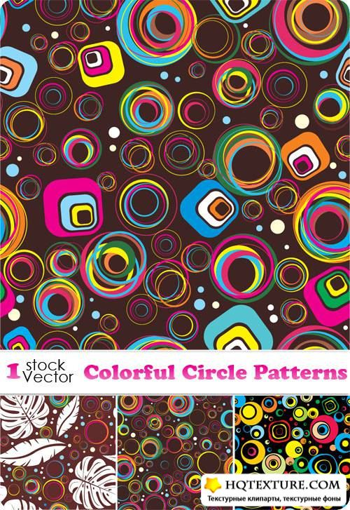 Colorful Circle Patterns Vector