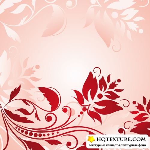 Abstract Floral Vintage Background