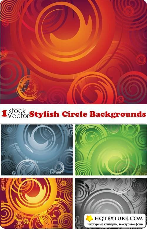 Stylish Circle Backgrounds Vector