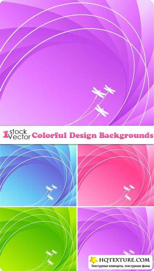 Colorful Design Backgrounds Vector