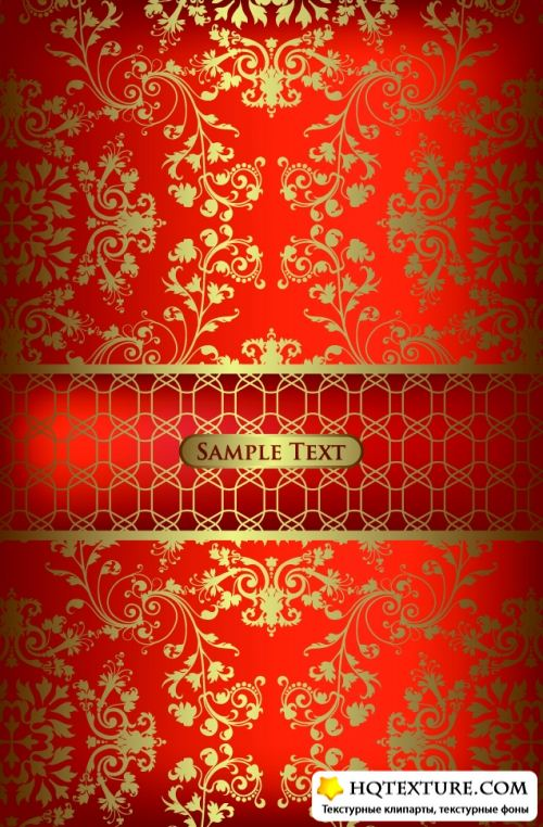 Gold Floral Backgrounds
