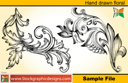 Stock vector - Hand Drawn Floral