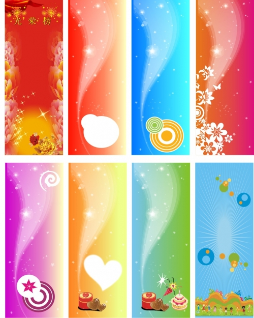 Colorful banners vector - CDR