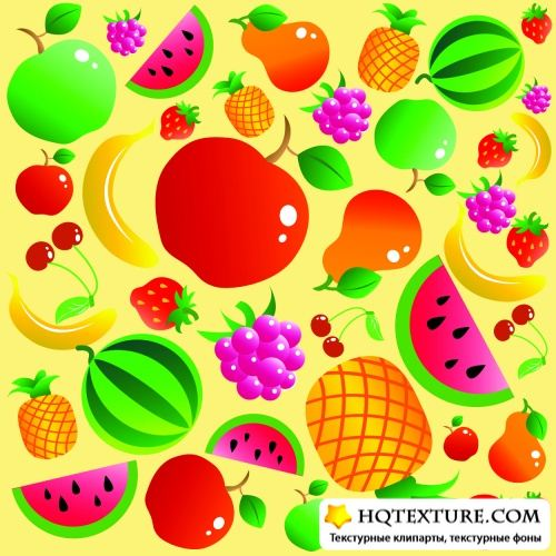 Fruits Seamless Patterns