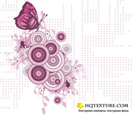 Free vector illustration - Digital Butterfly