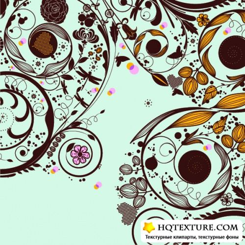 Stock Vector - Flower Patterns
