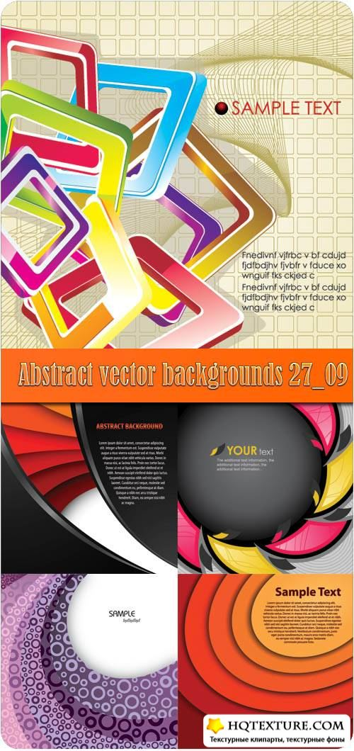 Abstract vector backgrounds 27_09