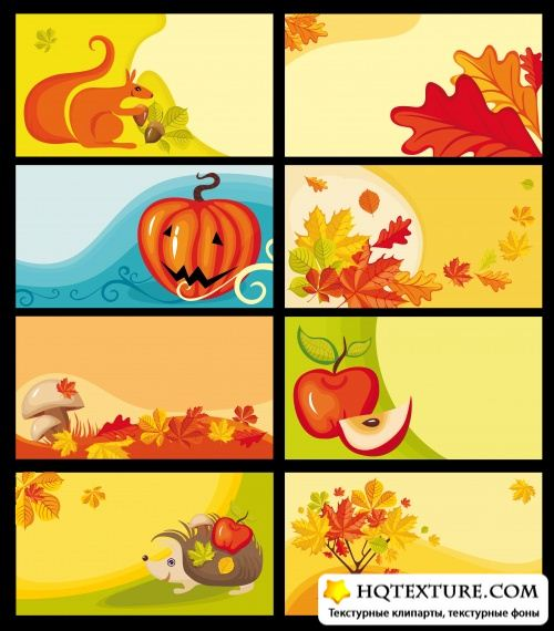Autumn vector cards