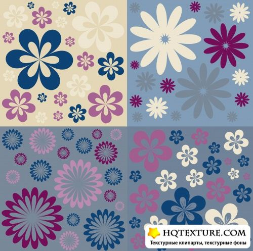 Stock Vector - Floral Retro