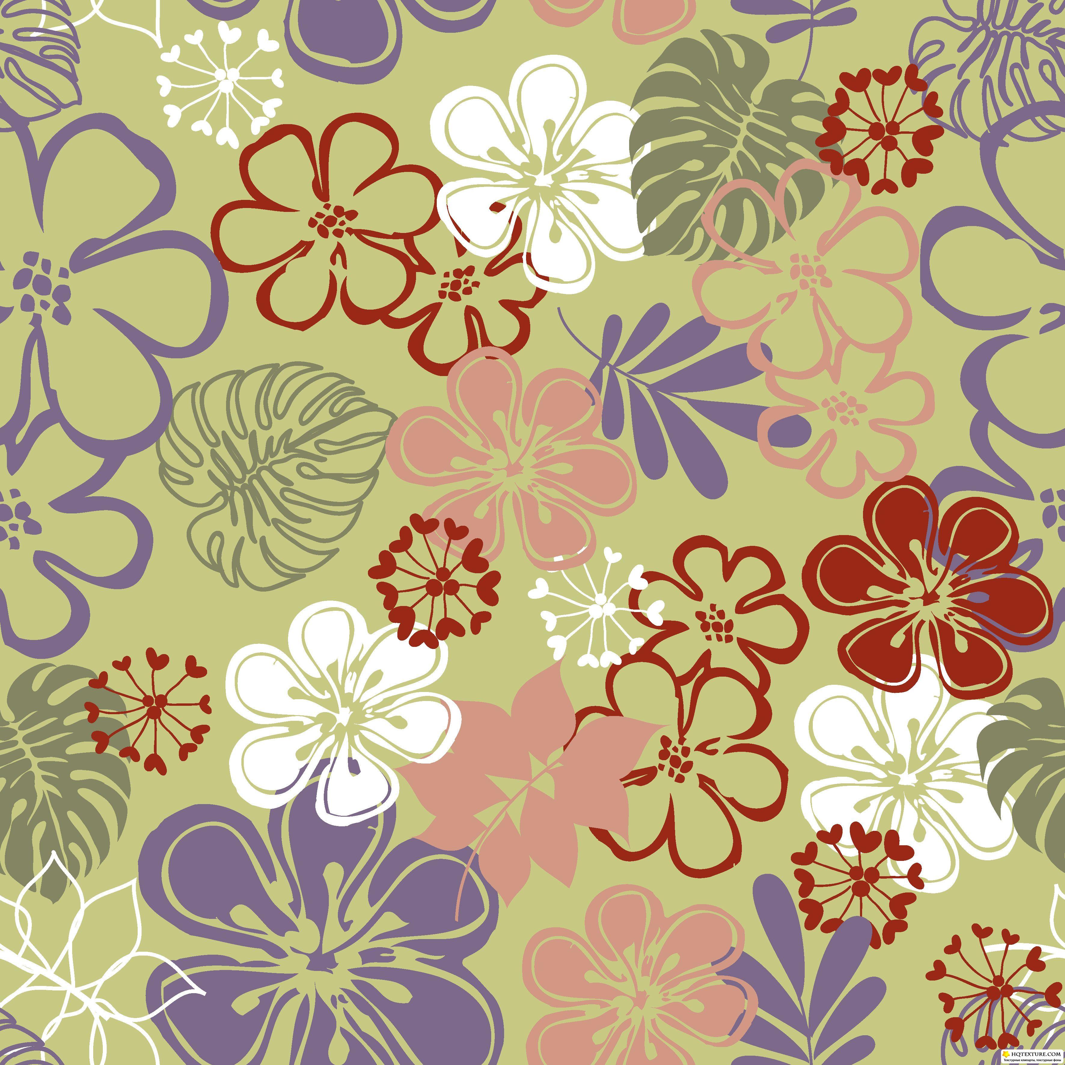 116 2: Floral Backgrounds 116 » Векторные клипарты, текстурные