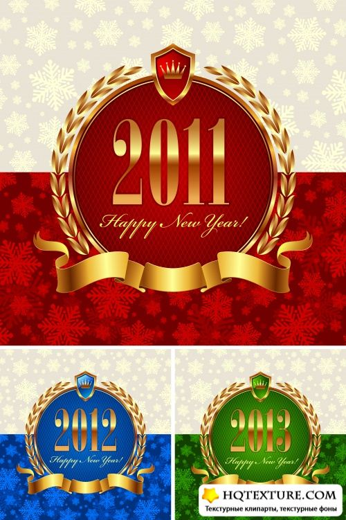 Luxury Christmas Frames Vector