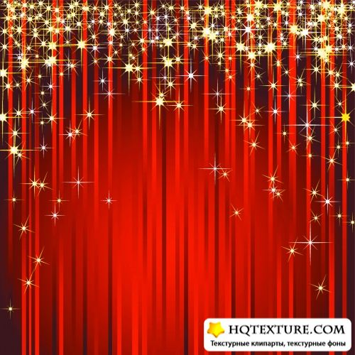 Curtains with Stars Vector