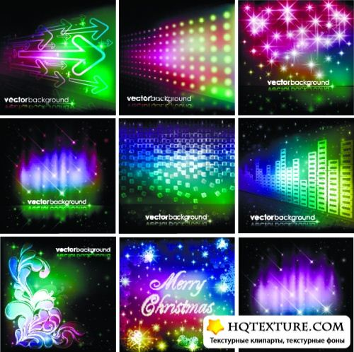 Stock Vector - Colorful Space Backgrounds