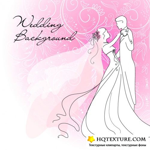 Stock: Bride and Groom. Wedding background