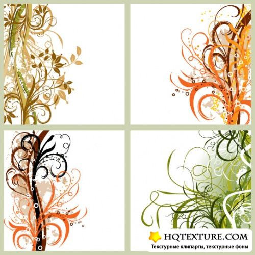 Stock Vector: Grunge floral background
