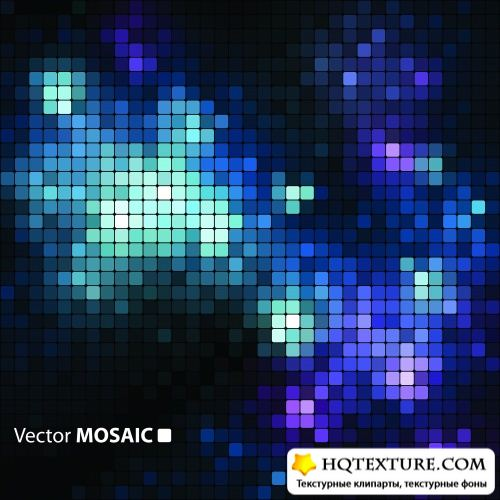 Stock Vector - Abstract Mosaic Backgrounds