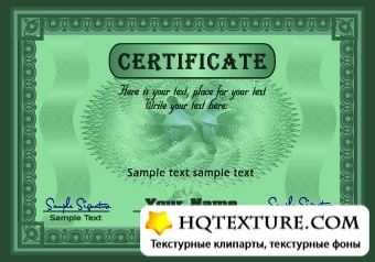 Stock Vector - Coupon & Certificate