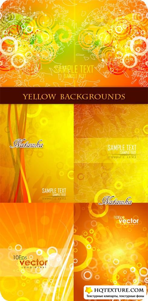Yellow background - Stock Vectors