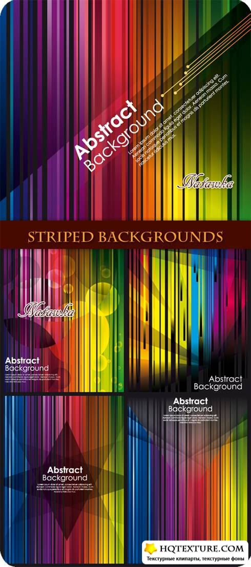 Color striped backgrounds - Stock Vectors