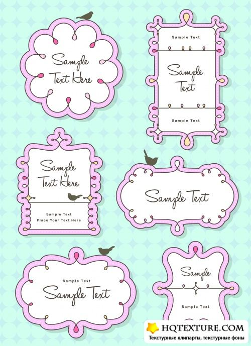 Cute Frames Vector 2