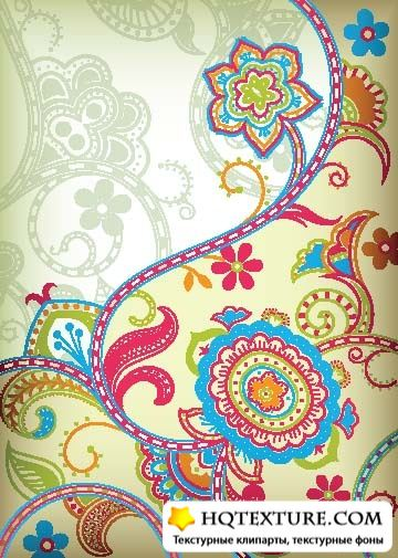 Colorful paisley backgrounds