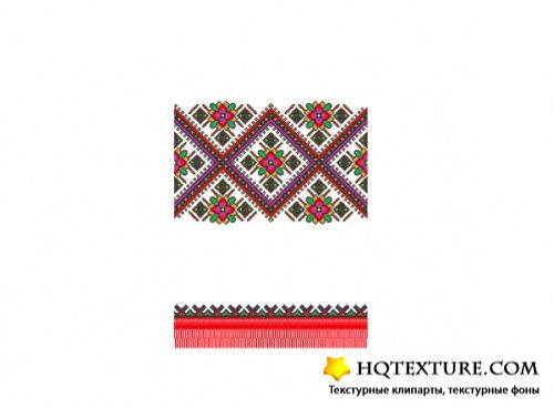 Stock Vector - Ethnic Ukraine Patterns 3