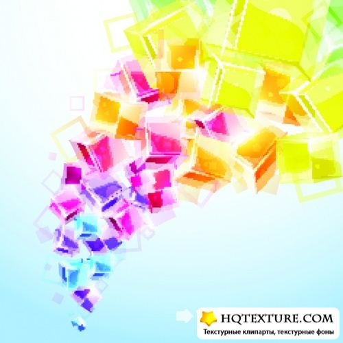 3D Bright Abstract Background 3 - Stock Vectors