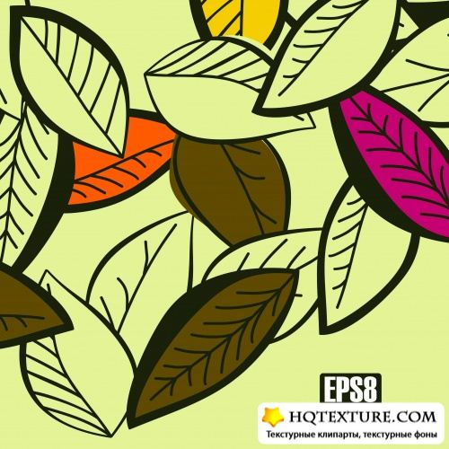 Backgrounds leaves - Stock Vectors