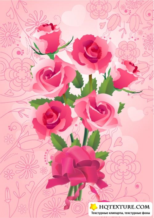 Bouquet of roses backgrounds
