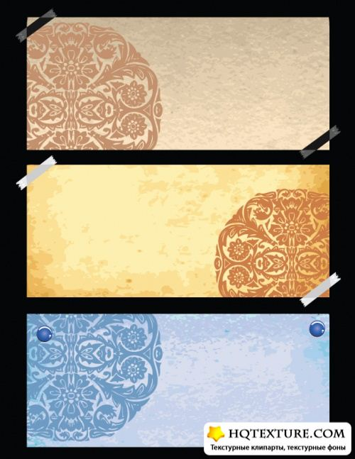 Stock Vector - Old Paper with Ornaments