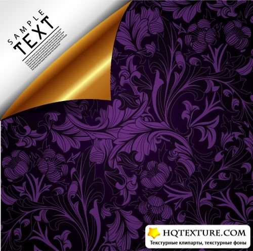 Luxury Floral Backgrounds Vector