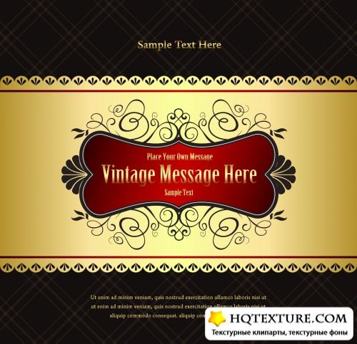 Luxury Vintage Backgrounds Vector
