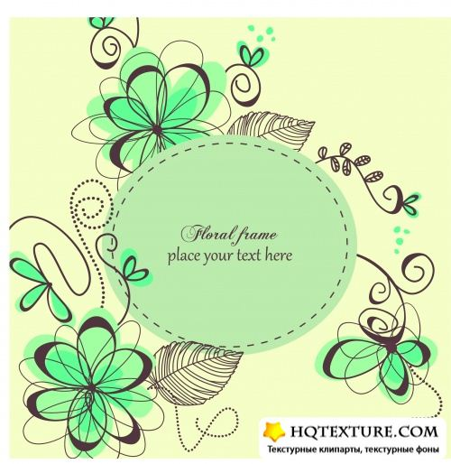 Stock Vector - Retro Floral Backgrounds