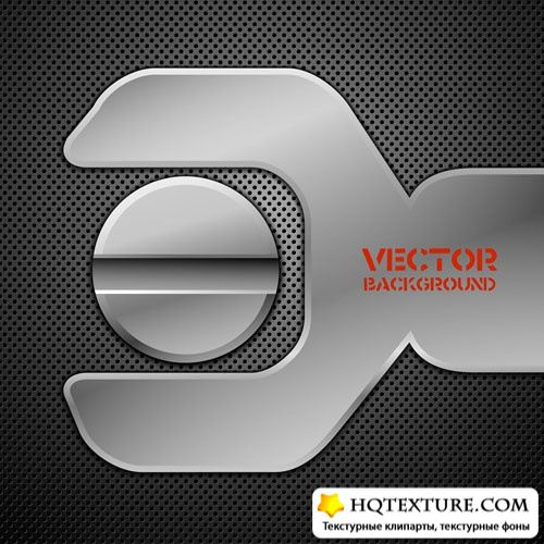 Metal vector backgrounds 2
