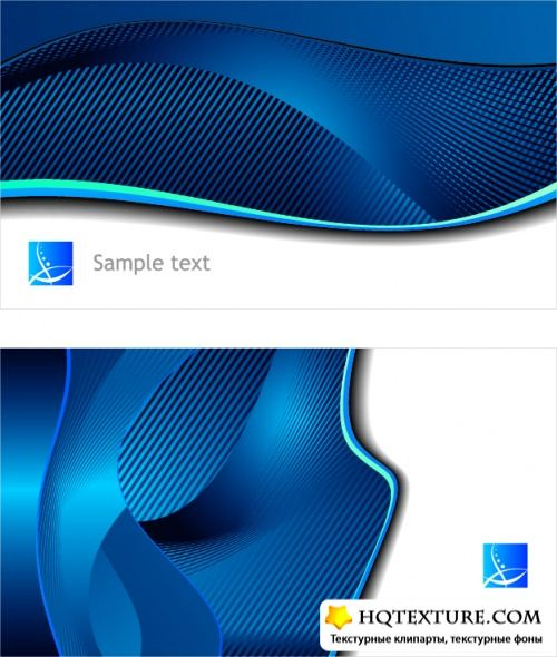 Vector backgrounds black and blue