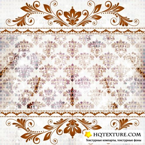 Vintage Floral Backgrounds Vector 2